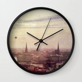 Hamburg sunrise Wall Clock