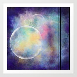 Abstract Bubbles - Digital Painting Art Print