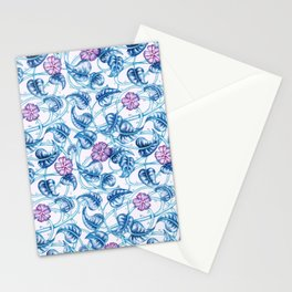 Ipomea Flower_ Morning Glory Floral Pattern Stationery Cards