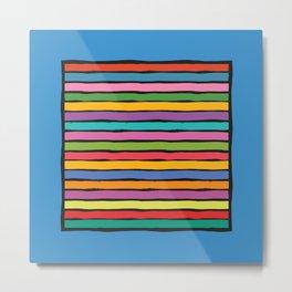 dp203-7B Colorful Stripes Metal Print