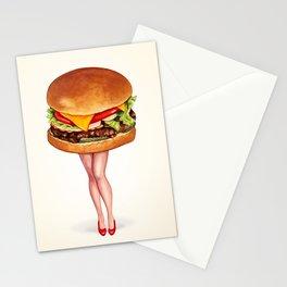 Cheeseburger Pin-Up Stationery Cards