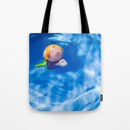 Mermaid in the pool Tote Bag