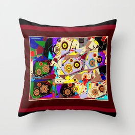 A Steampunk Automaton Gears and Cogs Throw Pillow