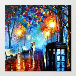 STARRY NIGHT TARDIS Canvas Print