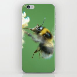 Busy Little Bee - Garden Photography by Fluid Nature iPhone Skin