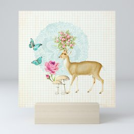 Deer rose Mini Art Print