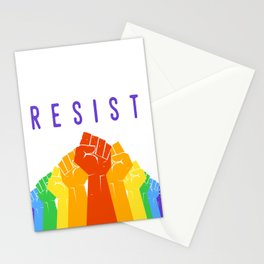 Resist (Pride) Stationery Cards