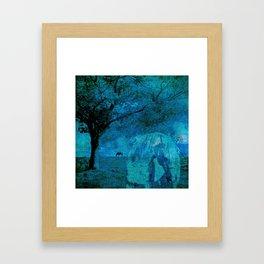 DREAM HORSE BLUE Framed Art Print