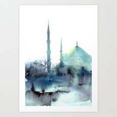 Sultan Ahmet Istanbul Art Print