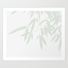 Leaves #Bamboo #Grey Art Print