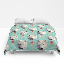 WHITE WOLF ICE CREAM Comforters