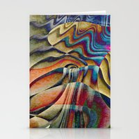 waterfall Stationery Cards featuring Waterfall by Klara Acel