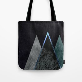 Nordic triangle geometric nature in rose gold Tote Bag