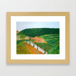 """Landscape in Tuscany - 12"""" x 16"""" (30 x 40 cm), Oil on Canvas Framed Art Print"""