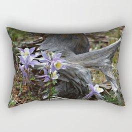 Columbines and Stump Rectangular Pillow