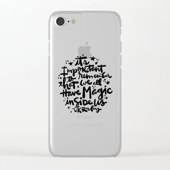 Magic Inside Clear iPhone Case
