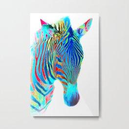 Freaky Zebra6 Metal Print