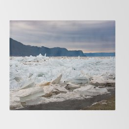 Blue Ice Throw Blanket