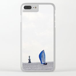 Blue sails Clear iPhone Case