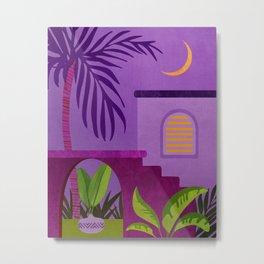 Purple Moonlight Villa / Villa Series Metal Print