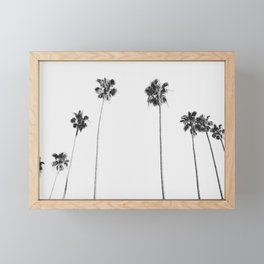 Black & White Palms Framed Mini Art Print