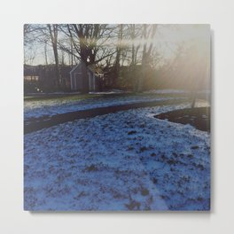 SNOWRISE Metal Print