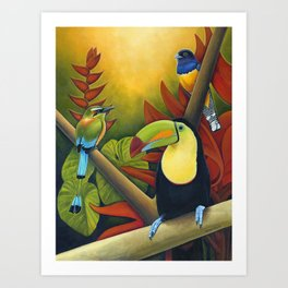 Tropical Birds Art Print