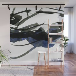 gestural abstraction Wall Mural