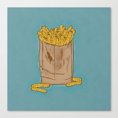 THERE'S ALWAYS TIME FOR FRENCH FRIES! - BLUE Canvas Print