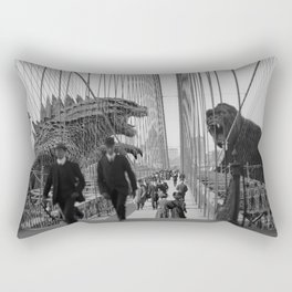 Old Time Godzilla vs. King Kong Rectangular Pillow