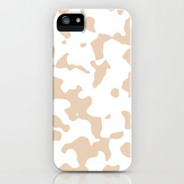 Large Spots - White and Pastel Brown iPhone Case
