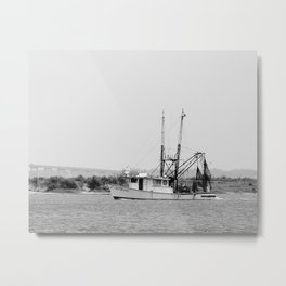 Shrimp Boat in Apalachicola Bay Metal Print
