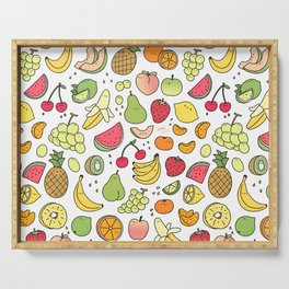 Juicy Fruits Doodle Serving Tray