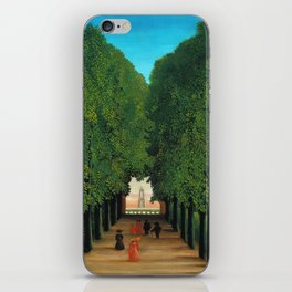 Henri Rousseau - Avenue in the Park at Saint Cloud iPhone Skin