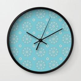 Robin's Egg Blue Sea Urchin - Mini Mandala Design Wall Clock