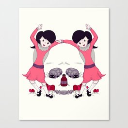 Party Skull Canvas Print