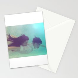 A Young Couple Swim Stationery Cards