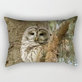 Beautiful Barred Owl Rectangular Pillow