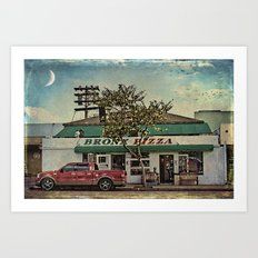 Bronx Pizza Art Print