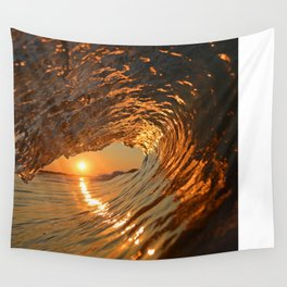 Sunrise at Sea Wall Tapestry