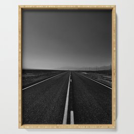 The lonely road. A journey along highway 376. Serving Tray