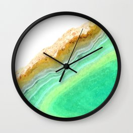 Druze green agate Wall Clock