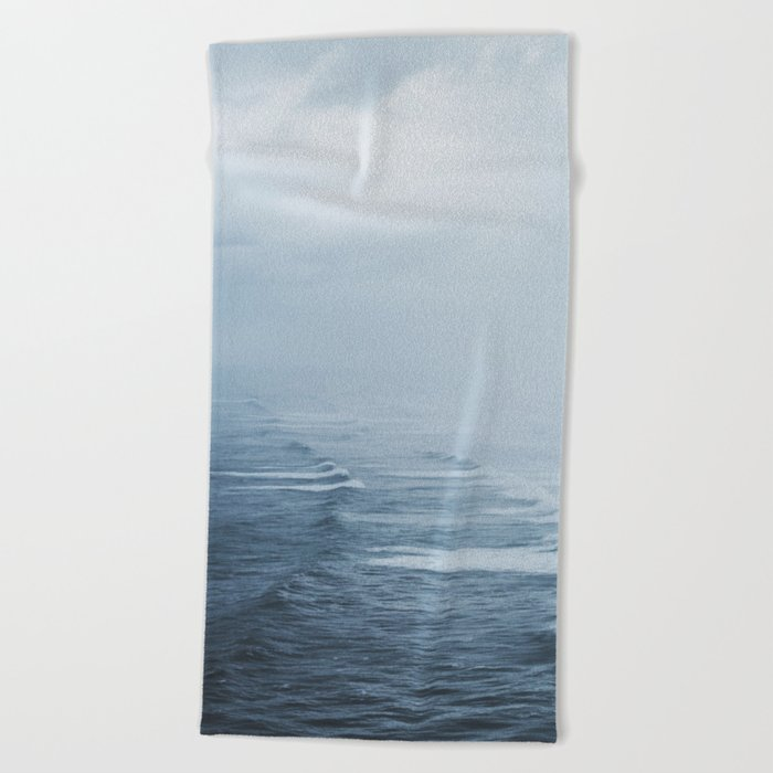Storms over the Pacific Ocean Beach Towel