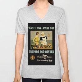 Waste Not Want Not Unisex V-Neck