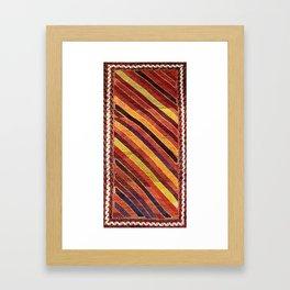 Baluch Northwest Afghanistan Rug Print Framed Art Print