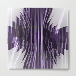 Avantgarde purple Metal Print