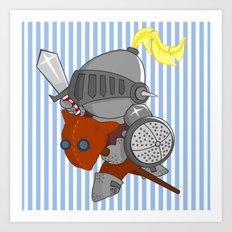 little knight in armor Art Print