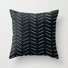 MOD_RepeatBrokenArrows_Charcoal Throw Pillow