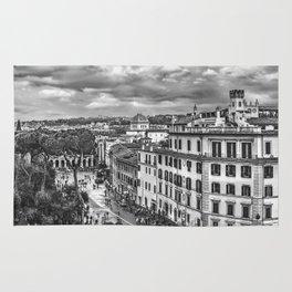 Rome Aerial Cityscape View From Campidoglio Terrace Rug