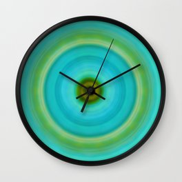 Soft Healing - Energy Art By Sharon Cummings Wall Clock